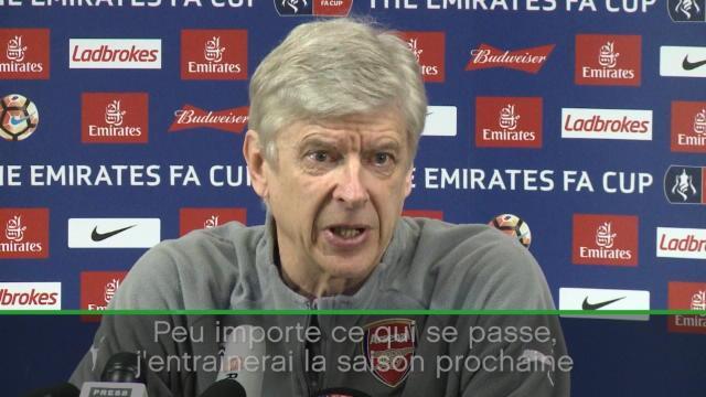 """Wenger : """"J'entraînerais la saison prochaine, que ce soit ici ou ailleurs"""""""