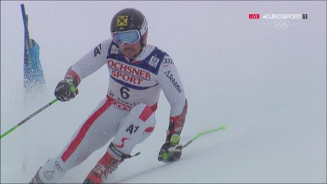 St Moritz giant slalom: Hirscher 2nd leg