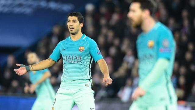"""Pour Suarez, le Barça """"est capable de renverser la situation"""" face au PSG"""