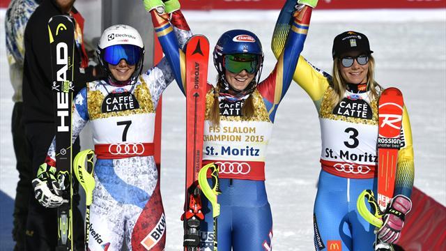 Шиффрин выиграла чемпионат мира в слаломе