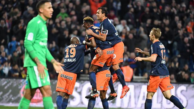 Pas verni, Saint-Etienne a fini par céder face à Montpellier