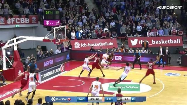 """Basketball: Top-10-Körbe im Eurocup mit Bayerns """"Buzzer Beater"""""""