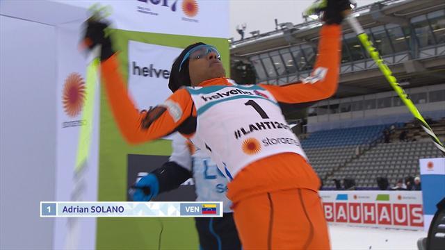 Perdu sur ses skis de fond le pauvre Solano a quand même terminé son parcours