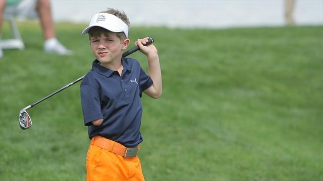 À 6 ans et malgré son handicap, Tommy Morrissey impressionne déjà les plus grands golfeurs