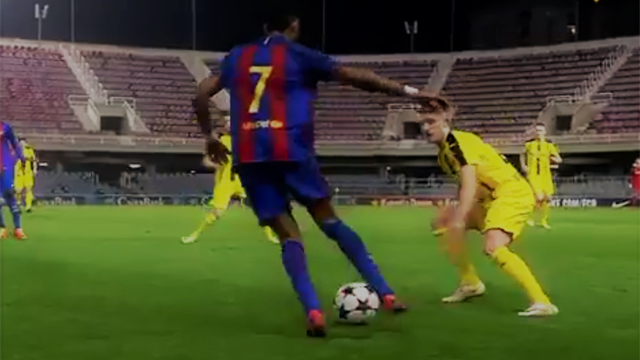 Roulette, double contact : La chevauchée fantastique d'un jeune du Barça