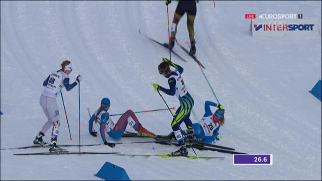 Six women in massive pile up at start of Skiathlon in Lahti
