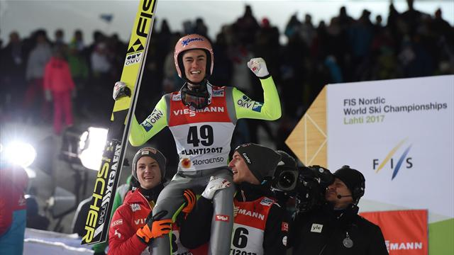 Kraft leaps to gold for Austria in ski jumping final