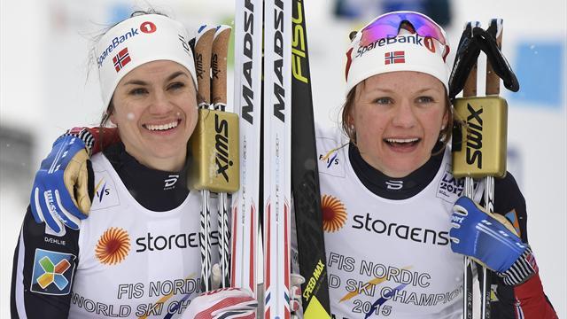 Русские  лыжницы стали пятыми вэстафете наЧМ вЛахти
