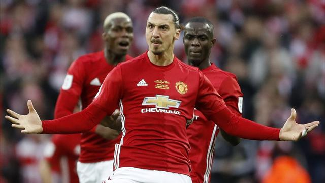 Late Ibrahimovic winner secures EFL Cup for Man Utd