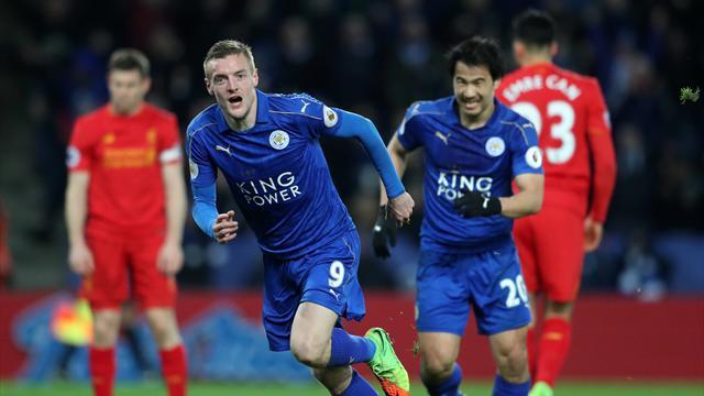 El Leicester golea al Liverpool sin Ranieri y avisa al Sevilla (3-1)