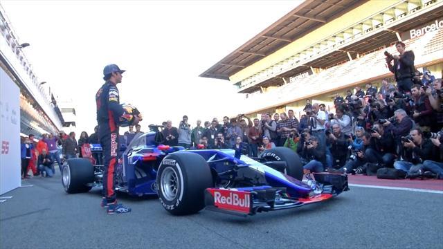 Carlos Sainz praises 'impressive and aggressive' Toro Rosso