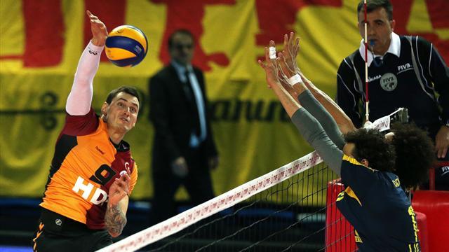 Maccabi Tel Aviv'i eleyen Galatasaray HDI Sigorta, yarı finale yükseldi