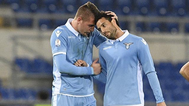 «Лацио» обыграл «Рому» впервом матче полуфинала Кубка Италии