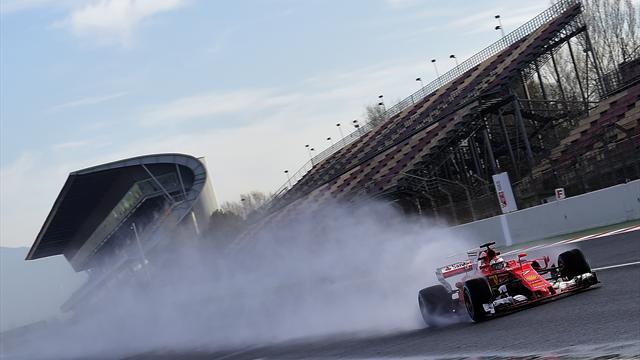 Test Barcellona: Raikkonen contro le barriere, test interrotti ma nessun problema per Kimi