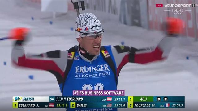 Julian Eberhard vince la Sprint preolimpica di Pyeongchang; Windish buon 6°