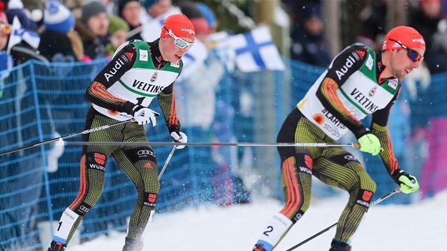 Kombinierer Rydzek/Frenzel nach Teamsprint-Springen auf Platz zwei