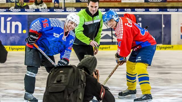 ERC stars unite for charity ice hockey match