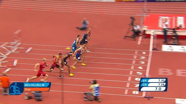 Médaillé d'argent, Martinot-Lagarde a cédé son titre pour un centième : le 60m haies en vidéo