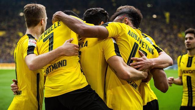 Dortmund fond sur Leipzig grâce à Dembélé et Aubameyang, le Bayern prend le large