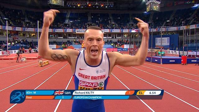 Grâce à une deuxième partie de course impériale, Kilty a conservé son titre sur 60m