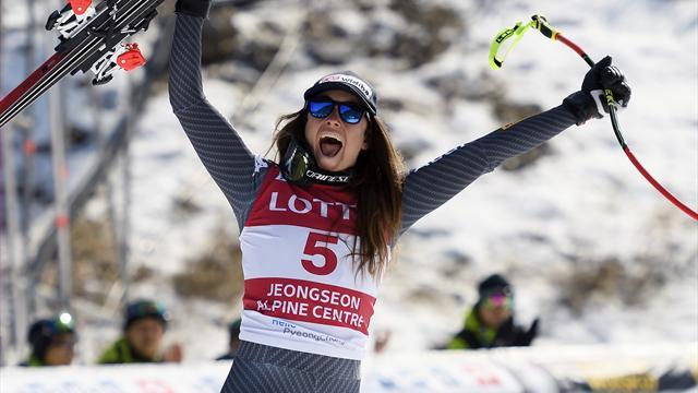 Sofia Goggia vince anche il Super G di Jeongseon, Brignone quarta