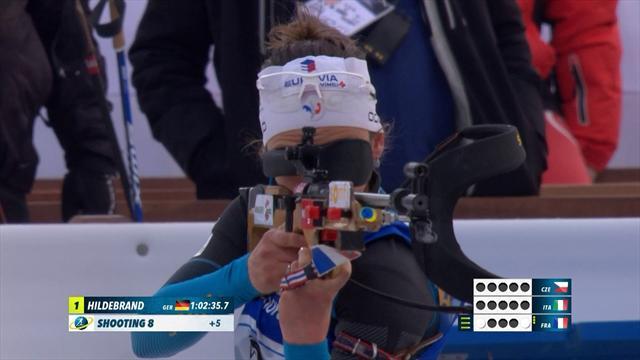 Главные моменты корейской эстафеты, в которой немки победили с 23-секундным отрывом