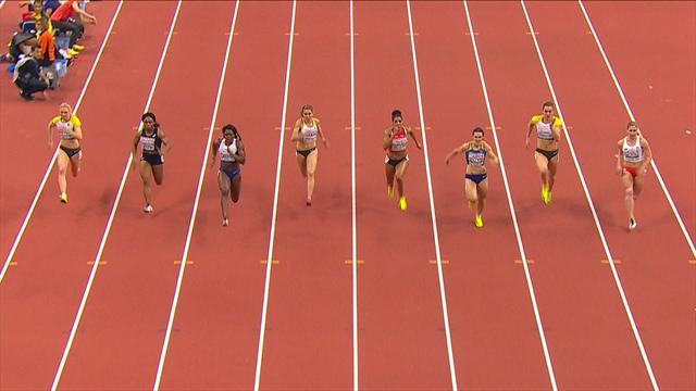 Asha Philip wins gold for Britain in thrilling 60m final