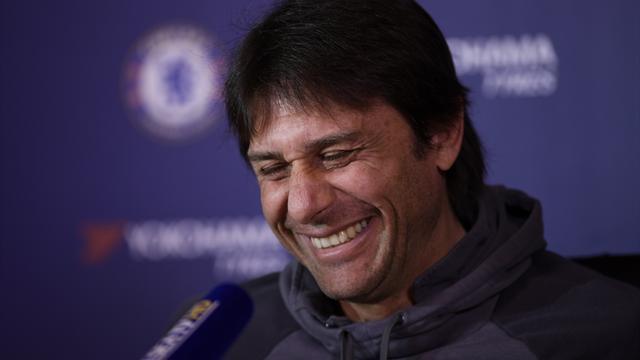 Antonio Conte reacts to Jose Mourinho's FA Cup antics