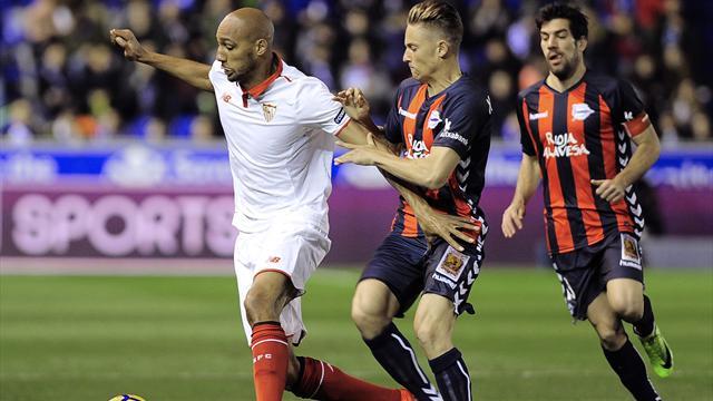 Accroché par Alavés, Séville ne tient pas la cadence du Barça et du Real