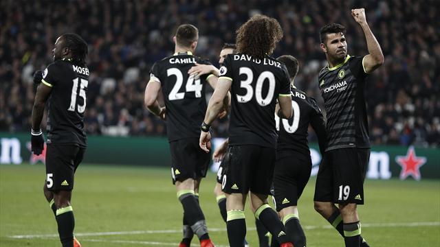Guidé par un super Hazard, Chelsea n'a pas tremblé à West Ham