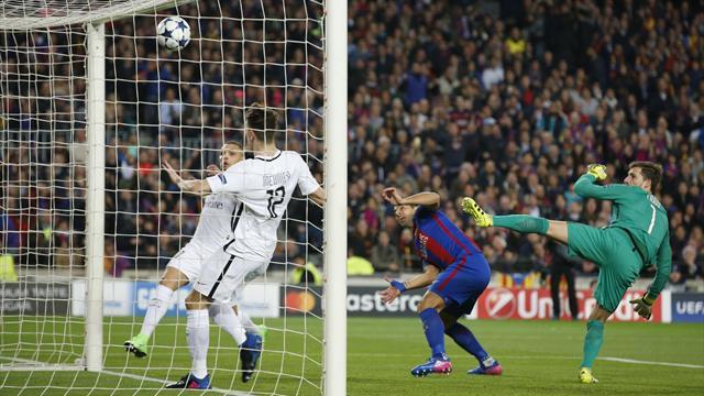 L'ouverture du score du Barça en vidéo : Suarez a profité de l'hésitation de Trapp