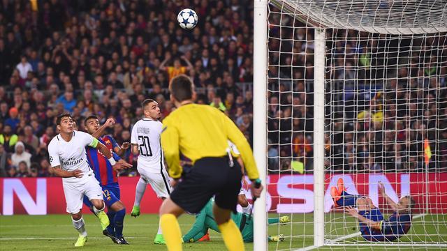 Marquinhos, Trapp et Kurzawa offrent le 2-0 au Barça sur un but gag