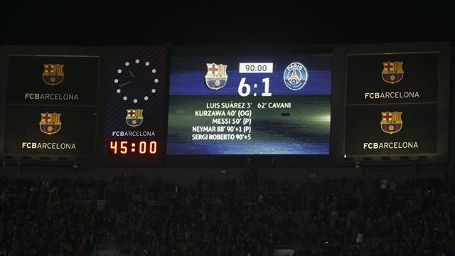 """De Suarez à Neymar en passant par Messi : tous les buts d'une """"remontada"""" historique"""