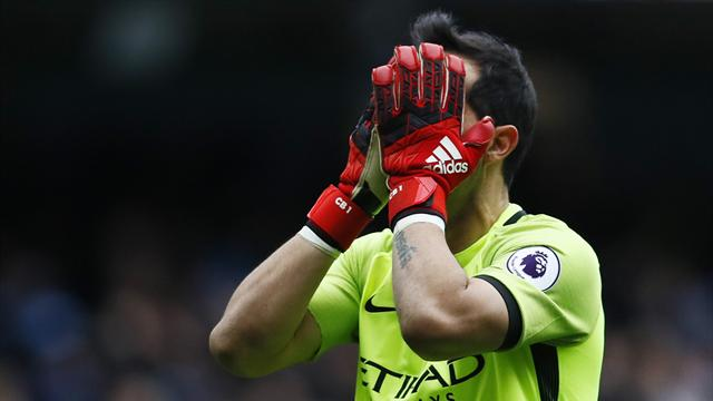 Manchester City goalkeeper Bravo suffers ruptured Achilles