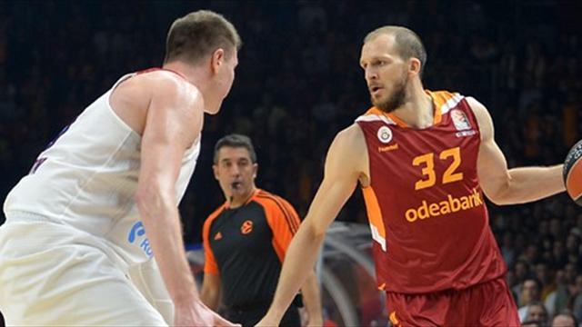 Galatasaray Odeabank, CSKA Moskova'ya diş geçiremedi