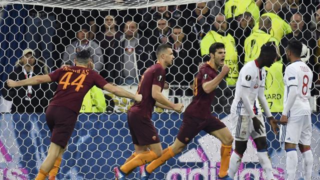 EN DIRECT : L'OL mené sur son terrain par l'AS Rome à la pause (1-2)