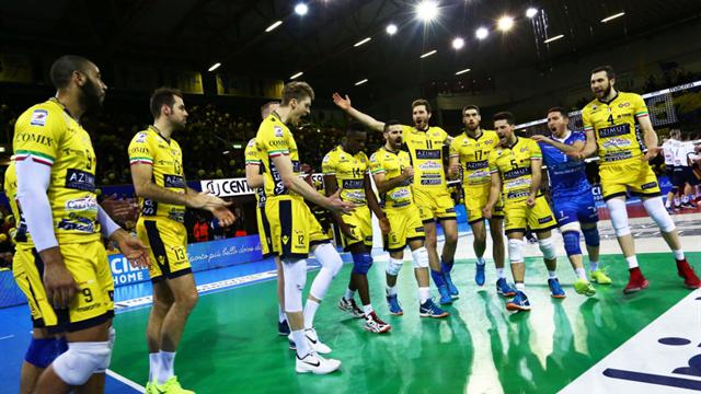 Civitanova è la prima finalista scudetto, eliminata Modena; Perugia e Trento alla bella