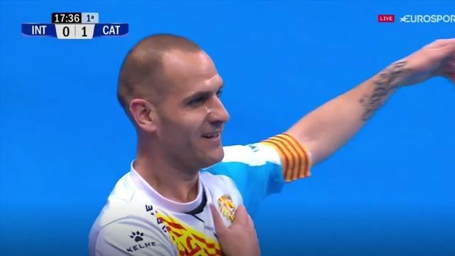 Copa de España, Movistar Inter-Catgas Energía: Golazo de Dani Salgado tras un genial saque de Prieto