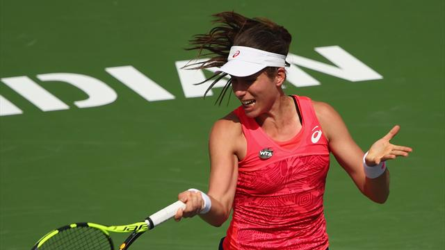 Konta eases into fourth round in Miami