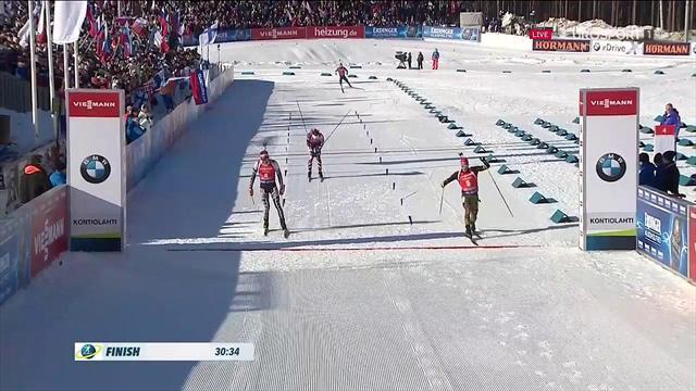 Peiffer vince l'inseguimento a Kontiolahti, Lukas Hofer chiude al 6° posto