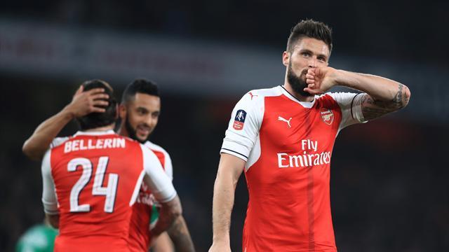 Arsenal put five past Lincoln City to make semi-finals