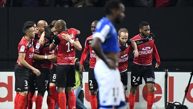 Guingamp enfonce Bastia, Lille revient de loin à Nancy