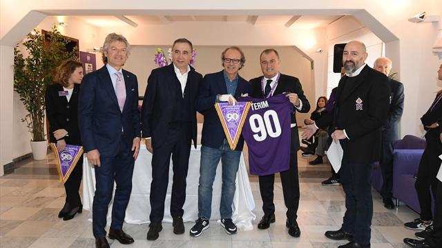 Fiorentina'dan Terim ve Ranieri'ye 90. yıl jesti