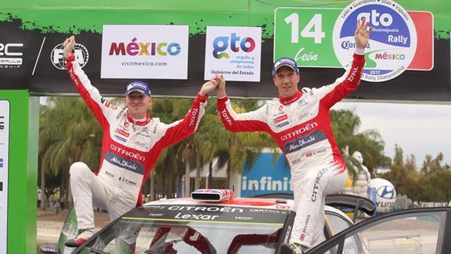 Meeke gana con susto en México y Ogier, segundo, recupera el liderato