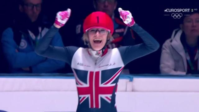 Elise Christie claims overall title, and third gold