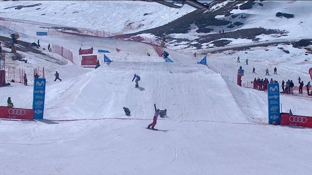 Premier sacre planétaire en snowboardcross de Vaultier