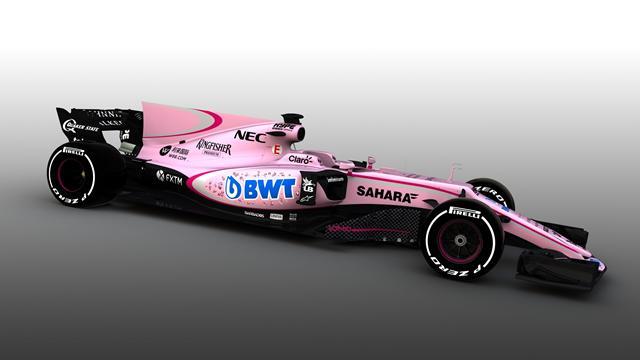 """Nuova livrea rosa per Force India. Il Palermo commenta: """"Splendidi colori"""""""