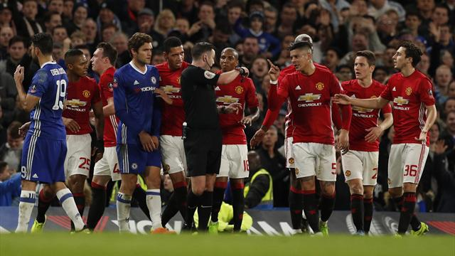 FA charge United with failing to control their players, Rojo escapes ban
