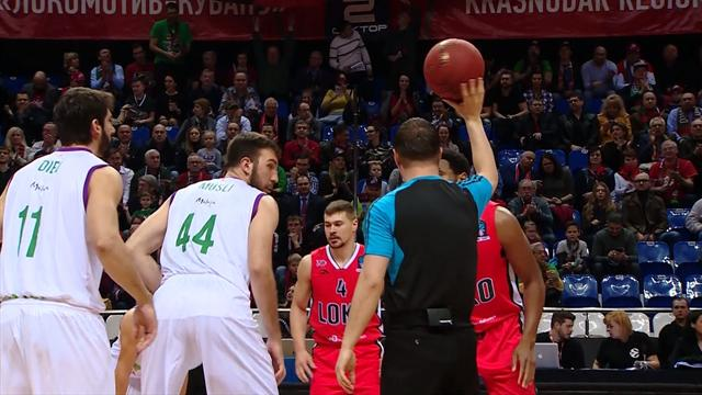 Highlights: Unicaja Malaga beat Lokomotiv in semi-final, match 1