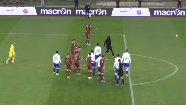 «Хайдук» проведет два матча без созерцателей запопытку поклонника напасть насудью